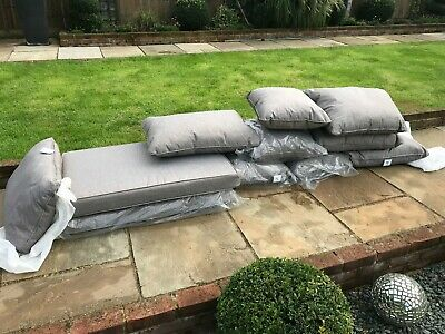 Garden seat cushions /covers pallet furniture many sizes light fawn top quality