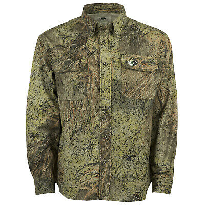 Cotton Mill Hunting Shirt for Men Camouflage Clothes Mossy Oak Camo