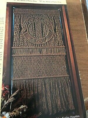 MAD ABOUT MACRAME ~Vintage Pattern Book~Wall Tapestry ~Hanging Table~OWLS
