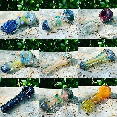 (2) RANDOM $50 pipes, 5-6 inch Premium Glass PIpes. Tobacco Hand Pipes  Glass