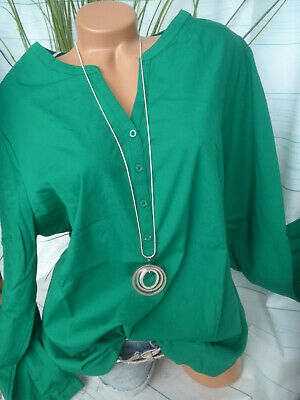 Sheego Blouse Tunique Chemisier Taille 42 à 48 vert 354 NEUF