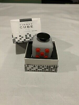 Gray/Red Fidget Cube Stress Anxiety Relief GET IT FAST ~ US SHIPPER
