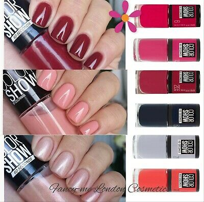 MAYBELLINE COLOR SHOW 60 Seconds NAIL POLISH VARNISH   - AUTUMN 2019 Shades