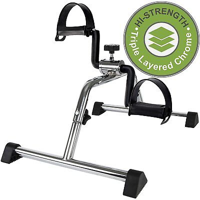 Vaunn Medical Pedal Exerciser Chrome Frame - Exercise Pedals Assembly Required