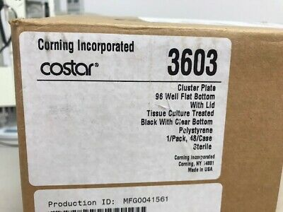 Corning® Costar 3603 96-well Flat Clear Bottom Black TC-treated Microplates