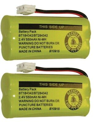New! Battery BT184342 BT284342 for AT&T Vtech GE RCA and Clarity Phones (2 Pack)