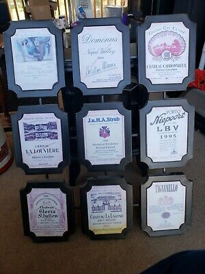 Wine Labels From Around The World On Metal Frame
