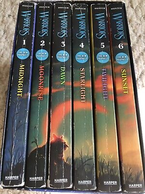 The New Prophecy 6 Books Warrior Cats Book Series By Erin Hunter
