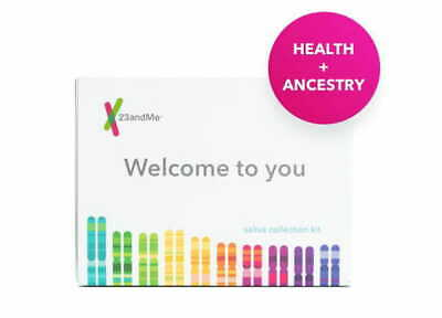 23andMe - Personal Ancestry Genetic DNA Home Saliva Kit  Lab Fee Included