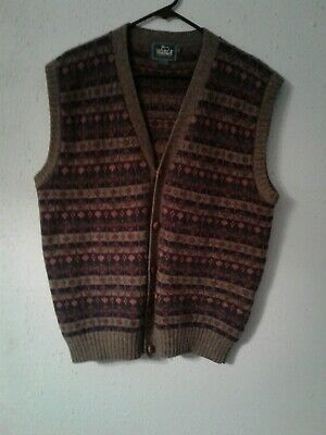 Vintage Men's Woolrich Wool Sweater Vest Size Large Ancient Bronze Pre-Owned