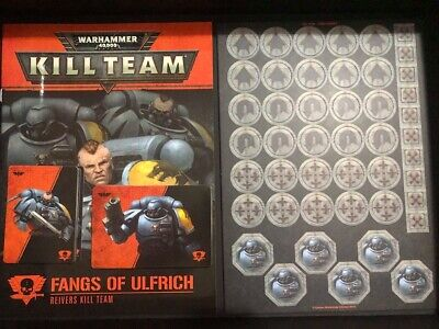 Warhammer 40K Kill Team Fangs of Ulfrich Faction Book and Cards