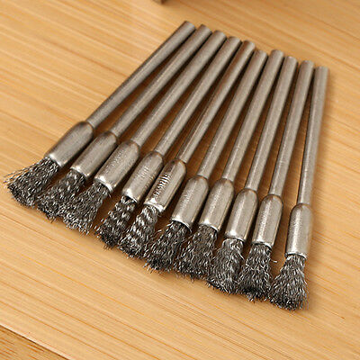 5pcs 3mm Rotary Steel Wire Wheel Brush Cup Gift Shank for Drill Rust Weld