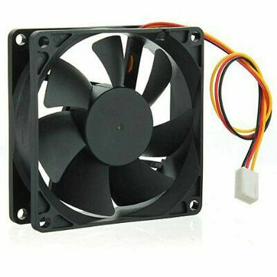 80x80x25mm Cooling CPU Computer Fan Ball Bearing Small DC Brushless 2-Pin 12V