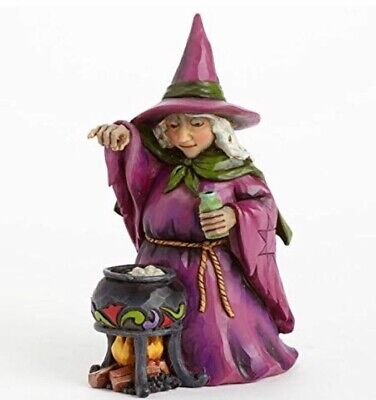 """(Retired) Jim Shore """"Wee Bit Wicked"""" Pint Size Witch Heartwood Creek 4041140 NIB"""
