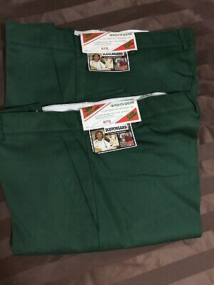 Pack of 2- JD UNIFORMS Work Pant Polyviscose Green Size 87s RRP $40 Aussie Made