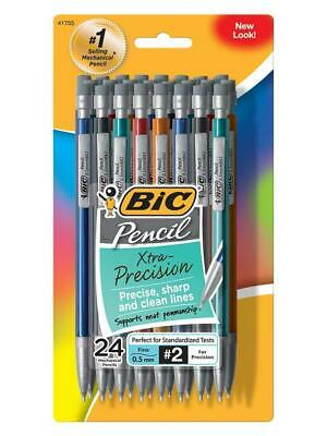 BIC Xtra-Precision Mechanical Pencil  Metallic Barrel Fine Point 0.5mm 24-Count