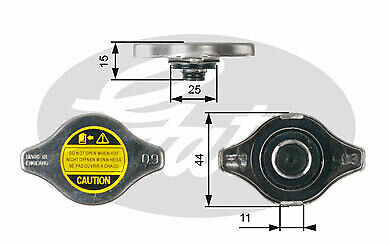 Radiator Cap fits DAEWOO Gates Genuine Top Quality Replacement New
