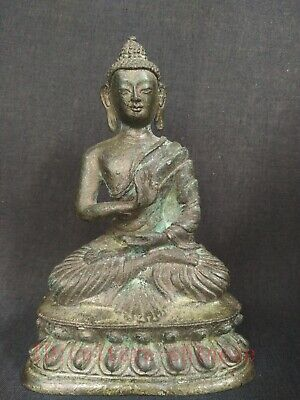 Very Good Collected Ancient China Tibet Bronze Antique Buddha Statue Decoration