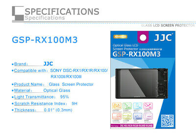 JJC 9H Tempered Glass Clear LCD Screen Protector for Sony RX100 VII RX100M7