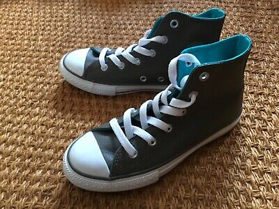 Converse Silver Unisex Chuck Taylor Classic All Star Lo OX Hi Top Trainer UK 10