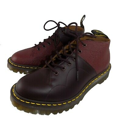 scarpa uomo dr martens pelle bordeaux rosso shoes made in england