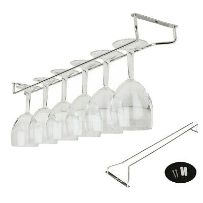 ALS_ Wine Glass Rack Stemware Cup Holder Kitchen Wall Mount Hanging Bar Pub Hang