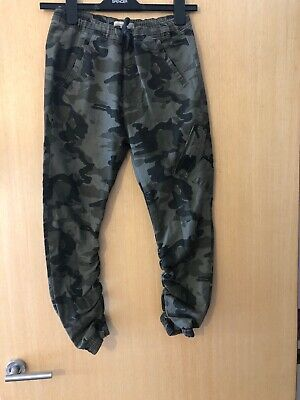Brand New Boys Zara  Army Green Print Combat Trousers Aged 10 Years