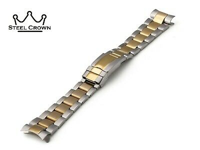 20mm For Rolex Watch Stainless Steel Bracelet Strap Band Silver Yellow