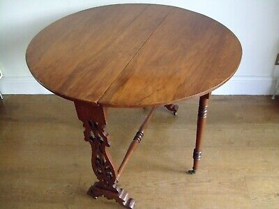Antique Victorian Mahogany Dropleaf Sutherland Table