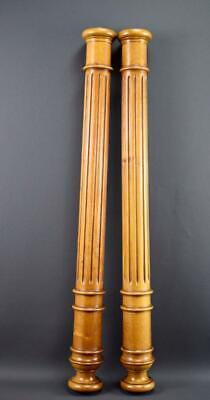 French Architectural Antique Fluted Wood Columns Trim Posts Pillars 2