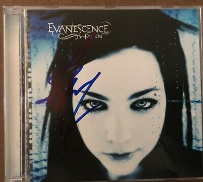 Evanescence Amy Lee Autograph Signed Fallen Cd
