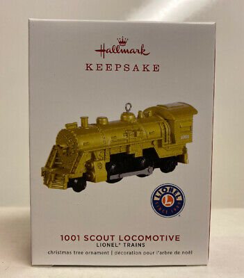 2019 Hallmark Keepsake Limited Edition Lionel Trains 1001 Scout Gold Locomotive
