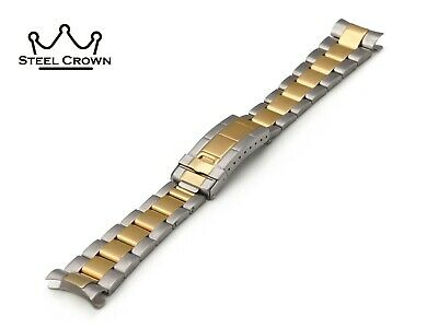 20mm For Rolex Watch Stainless Steel Bracelet Strap Band Silver Yellow GMT