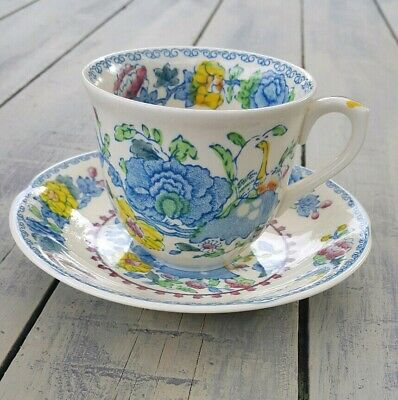 Vintage Mason's REGENCY PLANTATION COLONIAL Ironstone Pattern Cup and Saucer