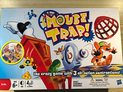 Hasbro Mouse Trap Complete With Instructions Kids Crazy Board Game Family MB