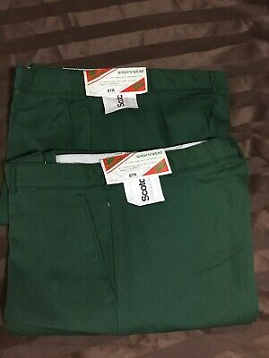 Pack of 2- JD UNIFORMS Work Pant Polyviscose Green Size 87r RRP $40 Aussie Made