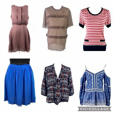 Topshop New Look River Island Bundle Of 11 Tops Skirts Dresses Size 12