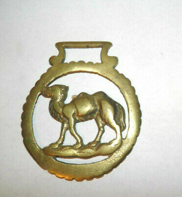 Vtg Horse Brass Medallion Camel Two Humps Ornament Saddle Bridle Harness
