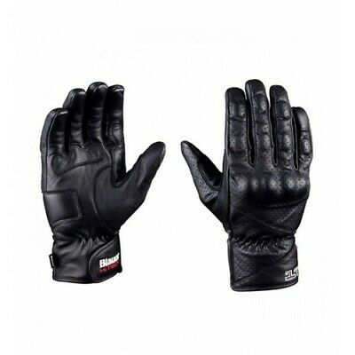 BLAUER H.T. Motorbike/ Motorcycle Leather Gloves Black Size M - Mint Condition!!