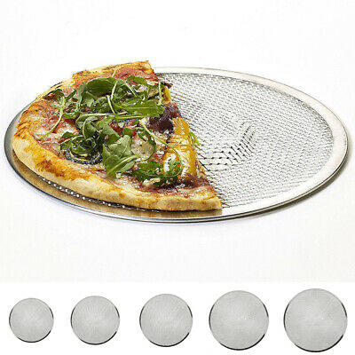Pizza Screen Aluminium Seamless Rim Pizza Mesh Round Tray Oven Baking