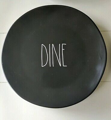 Rae Dunn Black DINE Dinner Plate YOU CHOOSE YOUR SET