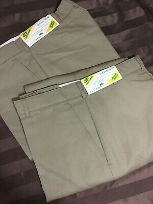 Pack of 2- JD UNIFORMS Work Pant Polyviscose Beige Size 84L RRP $40 Aussie Made