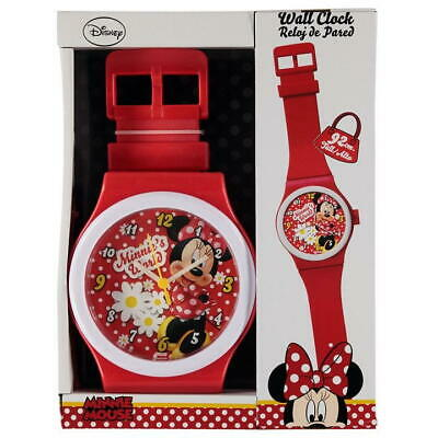 Disney Minnie Mouse Watch Strap Design Wall Clock,Childrens Bedroom,92cm Long