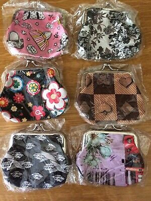 Joblot X 7 Fab Brand New Girl's Fun Coin Purses Birthday Party Bags Xmas Gifts