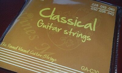 6 SETS of 6 Nylon Guitar Strings for Classical Guitar - Normal Tension