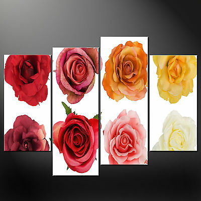 Roses Quality Cascade Canvas Print Picture Ready To Hang