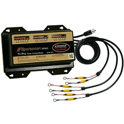 New Dual Pro Sportsman Series Battery Charger - 30A - 3-10A-Banks - 12V-36V