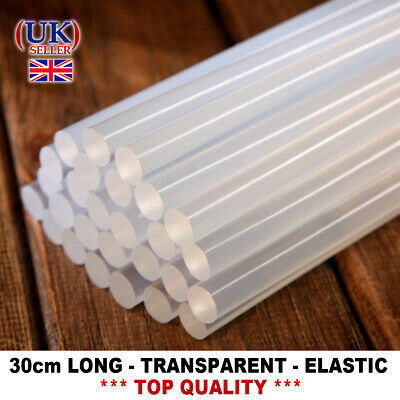 Hot Melt LONG Glue Sticks 11mm/300mmTRANSPARENT Elastic Glue Gun Hobby Craft DIY