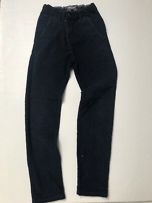 Boy Bonpoint Chino Corduroy Navy Blue Trousers 12 Years 100% Cotton