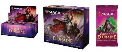 Mtg Magic The Gathering Throne Of Eldraine Booster Box + Bundle + Collector Pack